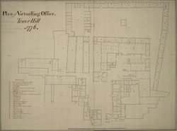 Plan of Victualling Office. Tower Hill. 1776